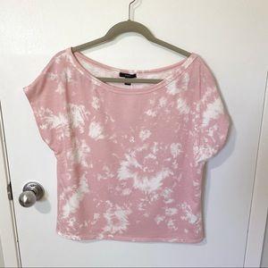 NWOT Anthropologie Drew Tie Dye Top, Pink/White S